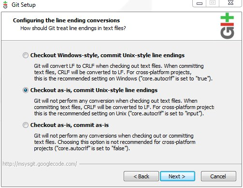 Configuring how line-endings are handled by git - SCAPE